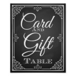 Wedding sign card and gift table