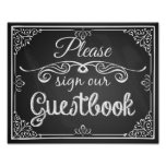 "Wedding sign chalkboard ""Guest book"""