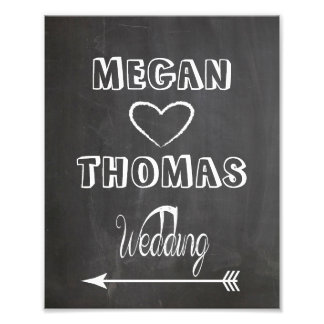 Wedding sign Chalkboard style  party way left