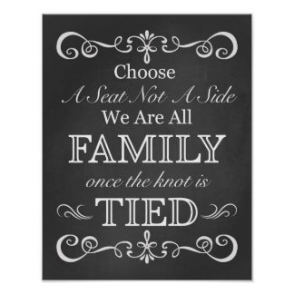 Wedding Sign – Choose A Seat Chalkboard Sign