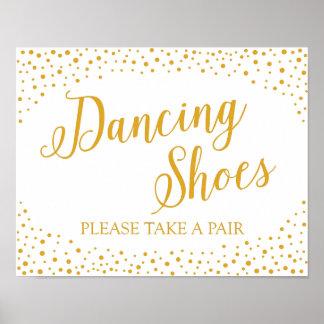 Wedding Sign – Dancing Shoes Confetti Wedding Sign