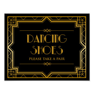 Wedding Sign – Dancing Shoes Gatsby Wedding Sign