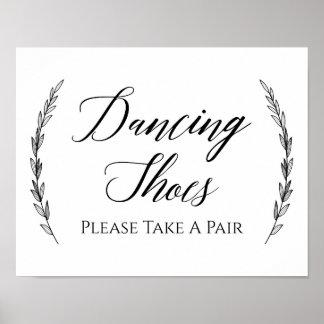 Wedding Sign – Dancing Shoes Laurel Wedding Sign