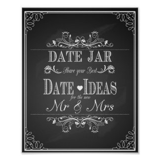 Wedding sign Date jar
