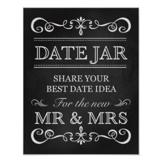 Wedding Sign – Date Jar Wedding Chalkboard Sign