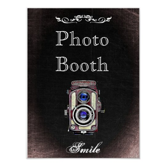 Wedding Sign for Photo Booth, chalkboard style Poster
