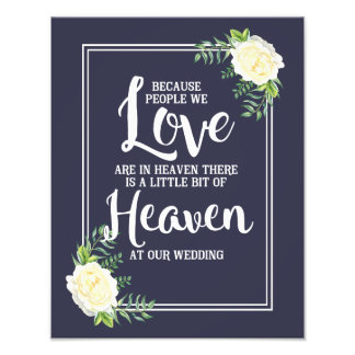 wedding sign, heaven at wedding, floral rose photo art