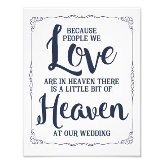 wedding sign, heaven at wedding, navy nautical photo art