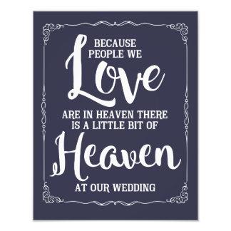 wedding sign, heaven at wedding, navy nautical photo print