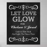 Wedding Sign – Let Love Glow Wedding Chalkboard