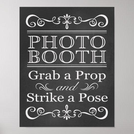 Wedding Sign – Photo Booth Wedding Chalkboard Sign