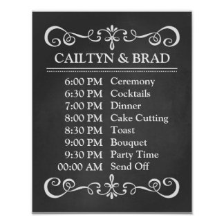 Wedding Sign – Wedding Schedule Chalkboard Sign