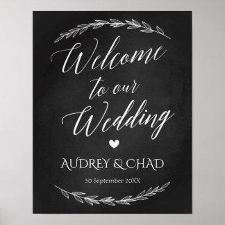 Wedding Sign – Wedding Welcome Chalkboard Sign