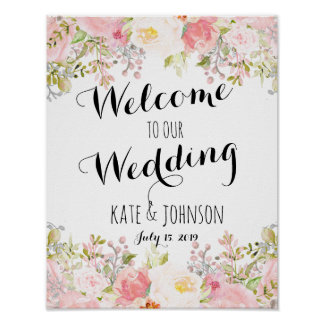 Wedding sign, welcome,  shower , poster, banner poster