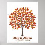 Wedding Signature Tree Poster – Natural Fall