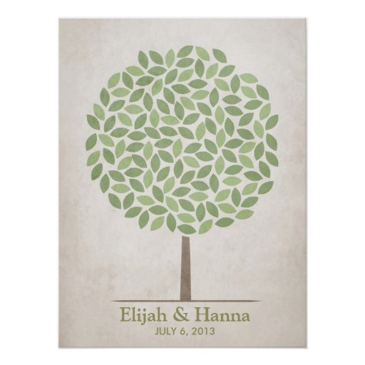 Wedding Signature Tree – Rustic Posters