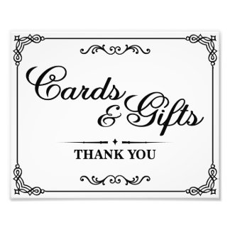 Wedding signs - Black & White - Cards & Gifts -
