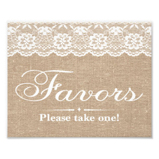 Wedding Signs - Burlap & Lace - Favors -