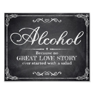 Wedding signs - chalkboard - Alocohol -