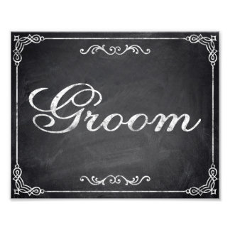 Wedding signs - chalkboard - Groom -