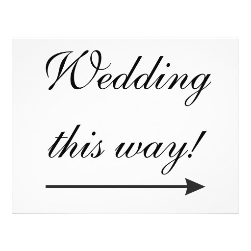 Wedding Signs direction to venue Personalized Flyer