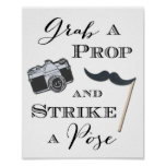 Wedding Signs Photobooth Poster Grab a Prop