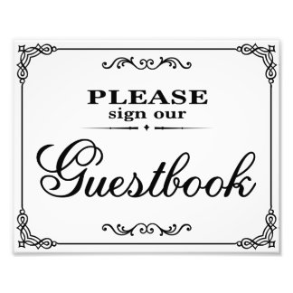 Wedding signs - Please sign our gusestbook -