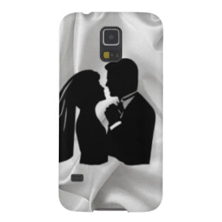 Wedding Silhouette on White Silk Galaxy S5 Covers