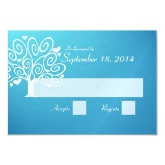 Wedding Silhouette RSVP 9 Cm X 13 Cm Invitation Card