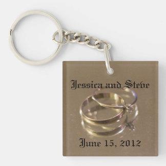 wedding Single-Sided square acrylic key ring