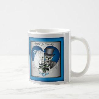 Wedding Skulls - Blue Coffee Mugs