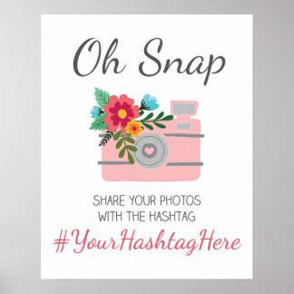 Wedding Social Media Hashtag Sign Poster