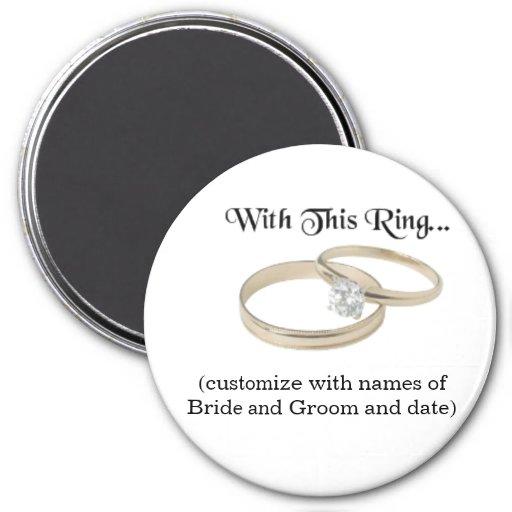 Wedding Souvenir Magnet
