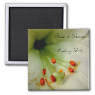 Wedding Souvenir Magnet - Flowers