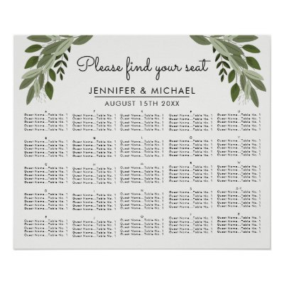 Rustic sunflowers 11 tables wedding seating chart zazzle junglespirit Gallery