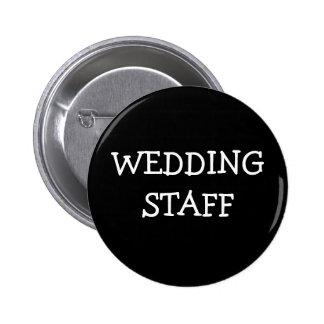 Wedding Staff 6 Cm Round Badge