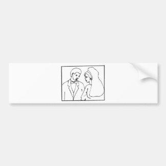 Wedding Stamps 9 Bumper Sticker