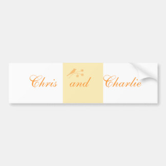 Wedding Stationary and Civil Ceremony customise Car Bumper Sticker