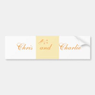 Wedding Stationary and Civil Ceremony customize Bumper Sticker