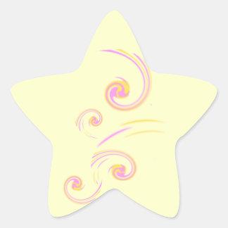 Wedding Stationary Light Curl set Star Sticker