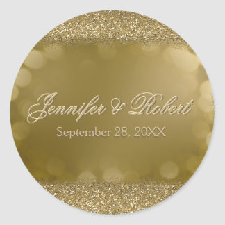 Wedding Sticker Gold