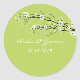 Wedding Stickers blossoms branches custom color