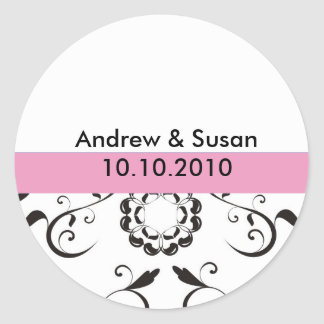 Wedding Stickers - coral flowers rosa