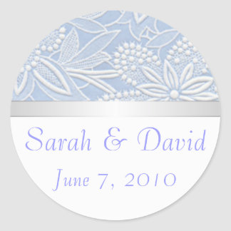 Wedding stickers light blue floral