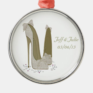 Wedding Stiletto Shoes Art Gifts Ornament