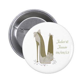 Wedding Stiletto Shoes Art Gifts Pinback Button