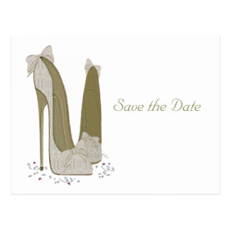 Wedding Stiletto Shoes Art Gifts Postcard