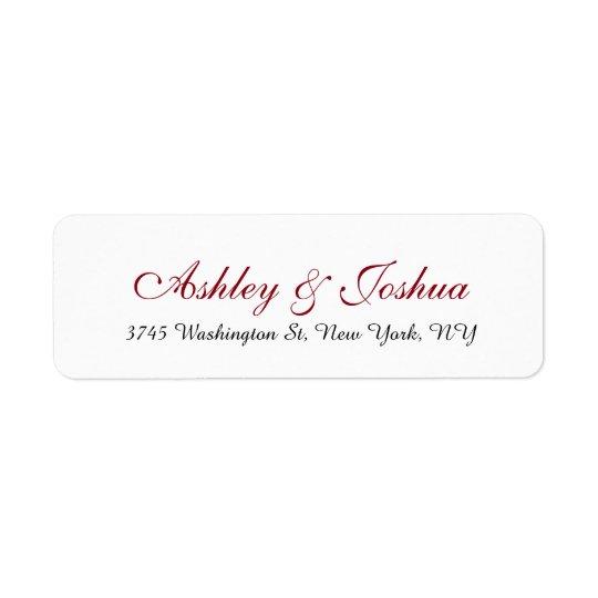 Wedding Stylish Chic Handwriting Red White Elegant