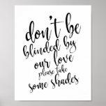 Wedding sunglasses favours 8x10 wedding sign