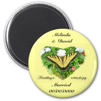 Wedding Swallowtail Butterfly Items 6 Cm Round Magnet